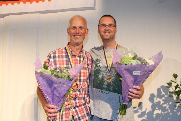 3:a ... Gunnar Sjökvist och Håkan Johansson, Växjöbridgen