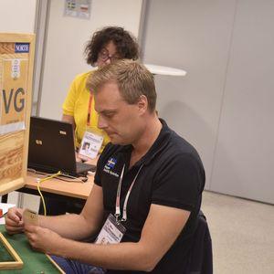 "Fredrik Nyström ""in action"""